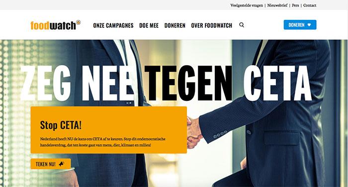 Implementatie nieuw webdesign voor Foodwatch.nl