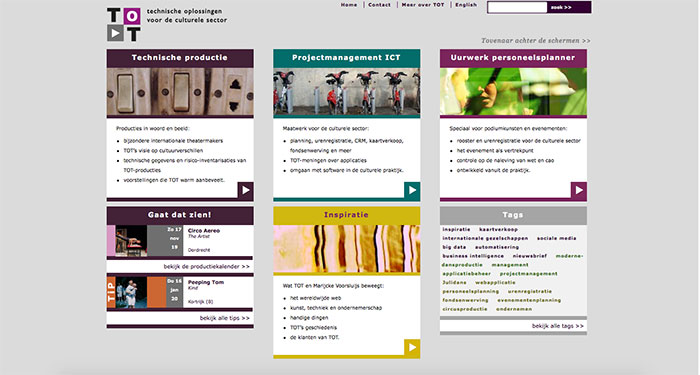 Webdesign en huisstijl voor TOT BV