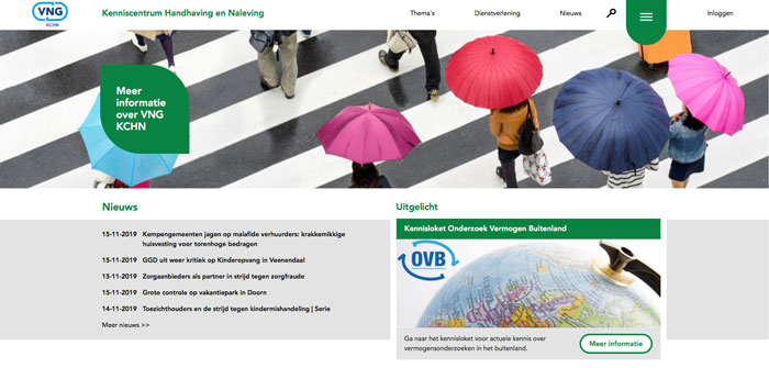 Restyling website voor VNG KCHN